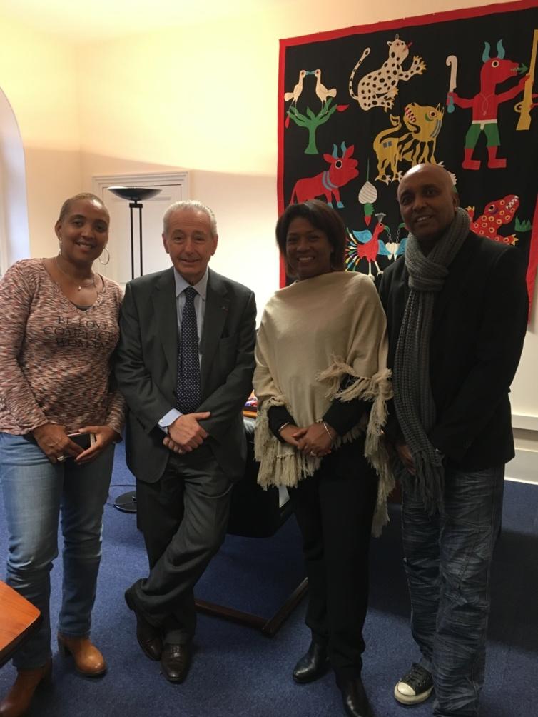 A l'Unesco avec le président Daniel Janicot