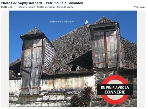 Bâtiment historique à l'abandon sur la place de la Mairie de Saint-Leu - Sophie Rotbard