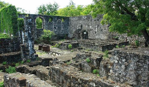 Ruines de l' Usine à sucre. Saint Gilles Les Hauts - île de la Réunion