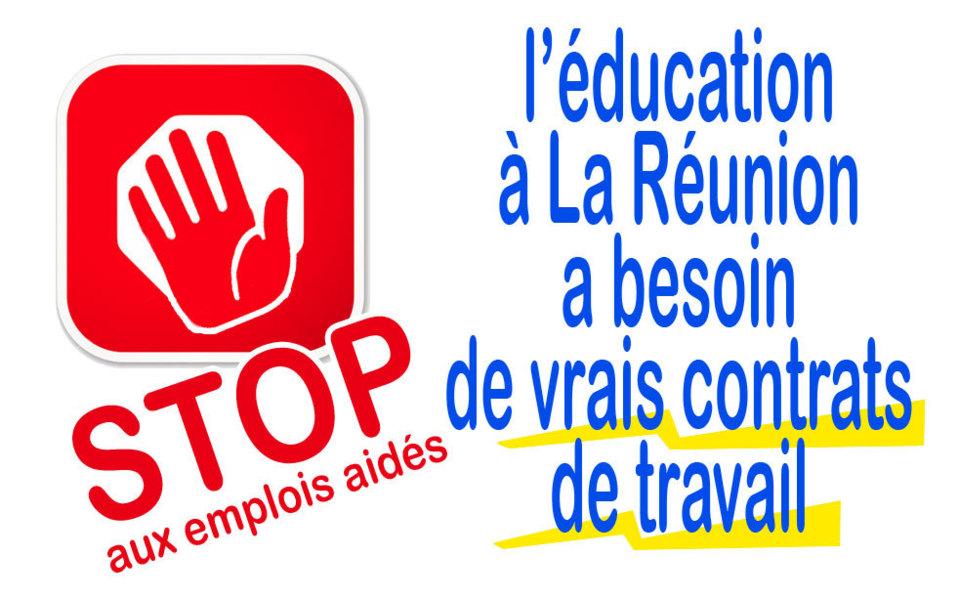 Aline Murin Hoarau : Stop aux contrats aidés à l'école