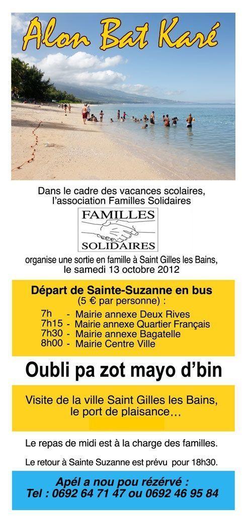 Alon bat caré la plage avec Familles Solidaires.