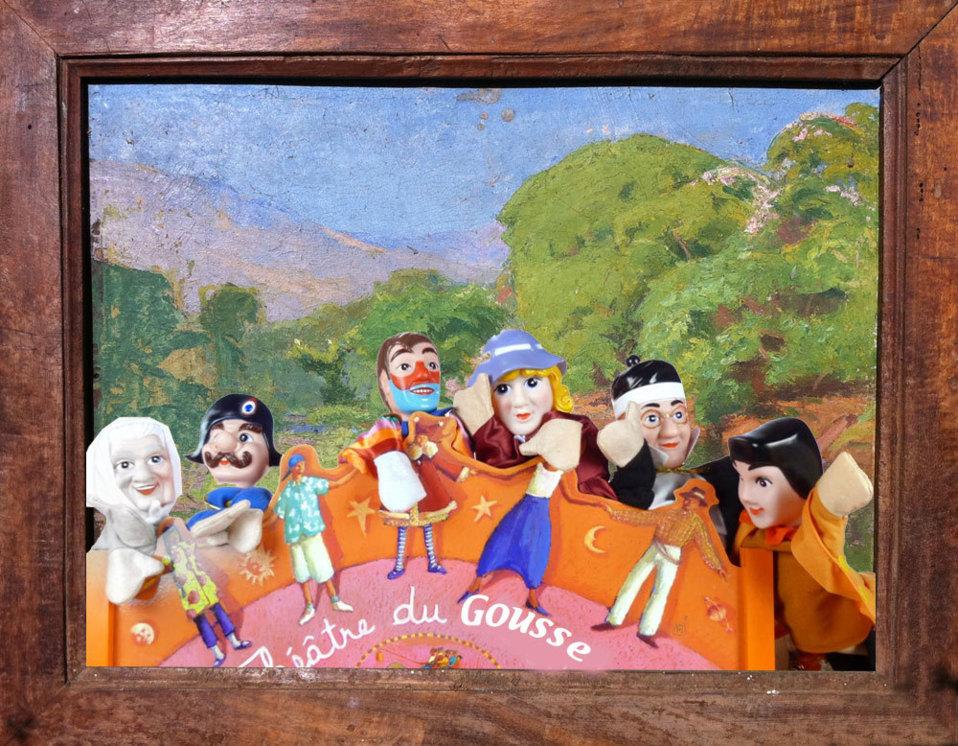 En arrière plan Sainte Suzanne, une peinture de Germaine Vinson