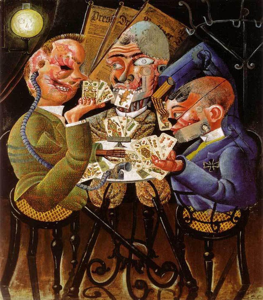 Otto Dix , les joueurs de cartes.