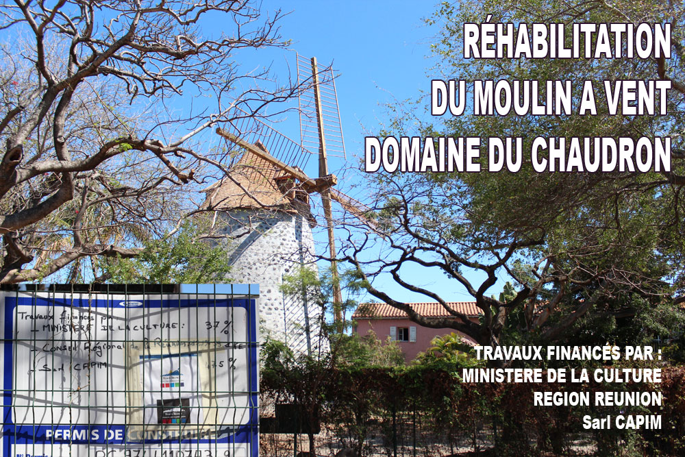 Restauration du moulin du domaine du Chaudron - crédit photo S. Lacour
