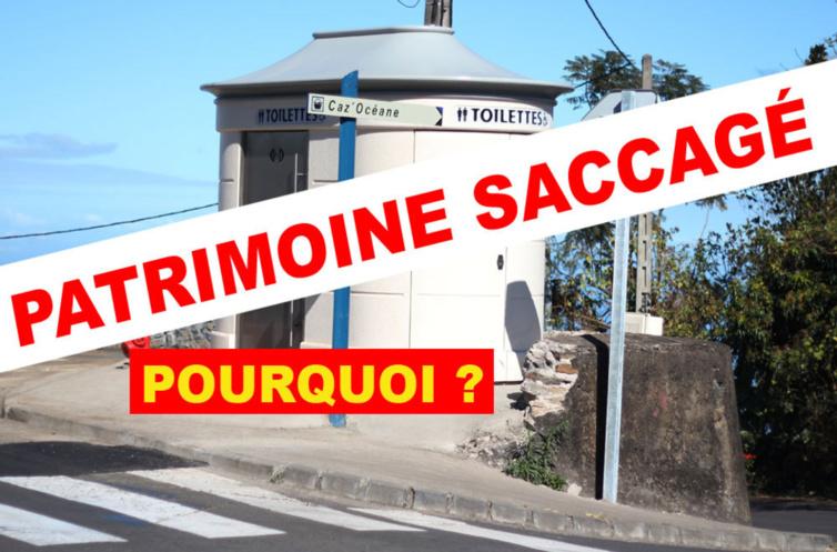 Thierry Robert dans sa commune détruit un lieu patrimonial fort, une citerne pour y installer des toilettes modernes