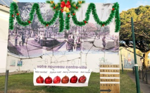 A Sainte-Suzanne: plus de panneaux pour nous souhaiter Joyeux Noël
