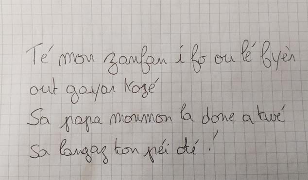 La langue créole Réunionnaise en voie de disparition ?