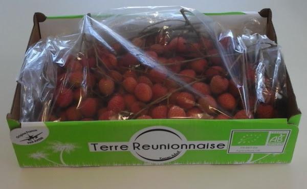 Les letchis bio de La Réunion au marché de Rungis