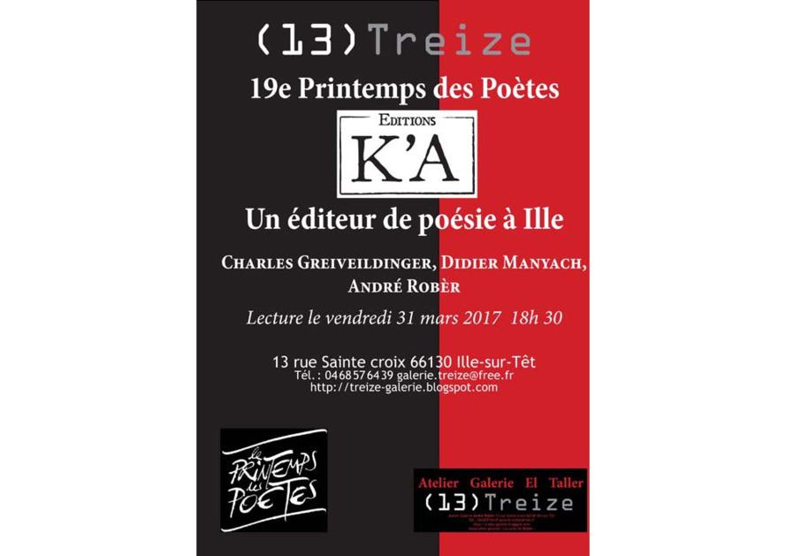 Un éditeur de poésie à Ille sur Tet