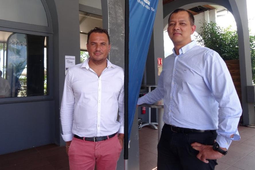 Fabrice Minatchy (à droite), Président de l'ARIPA et Ludovic Courtois, Délégué général.
