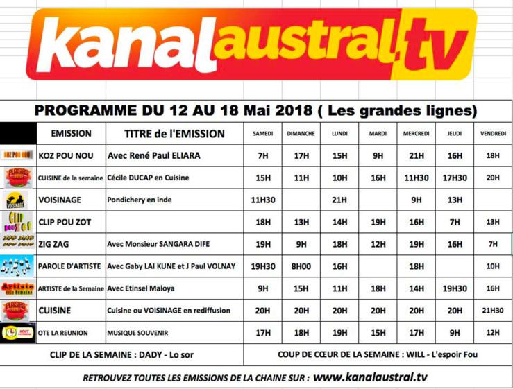 Programme télé KANALAUSTRAL