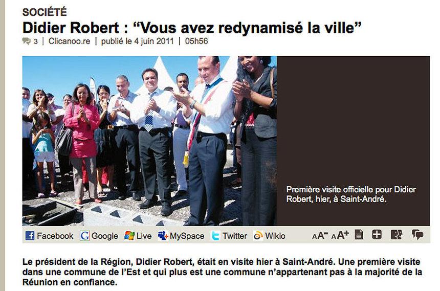 """""""Didier Robert est-il devenu l'allié objectif d'Eric Fruteau ?"""
