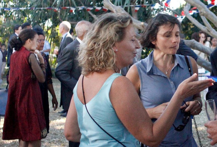 La conseillère régionale Fabienne Couapel-Sauret a aussi serré beaucoup de mains.