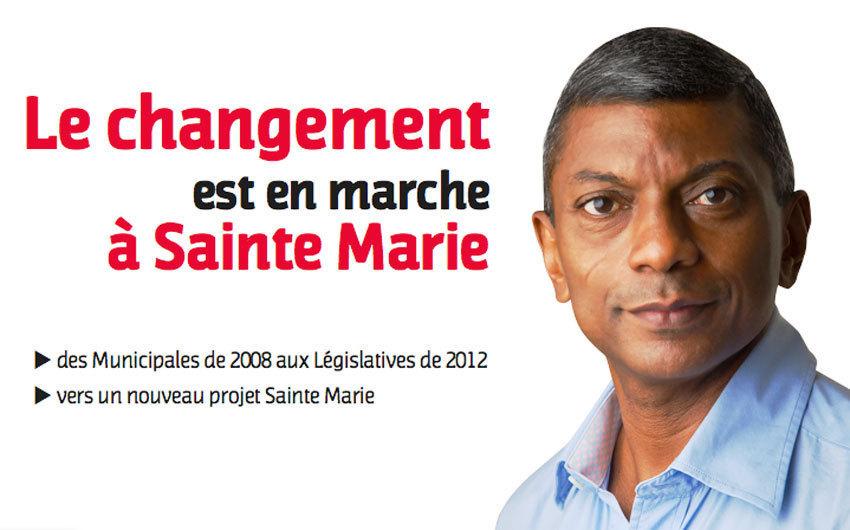 """Christian Annette (PS) : """"Le changement est en marche à Sainte-Marie"""""""