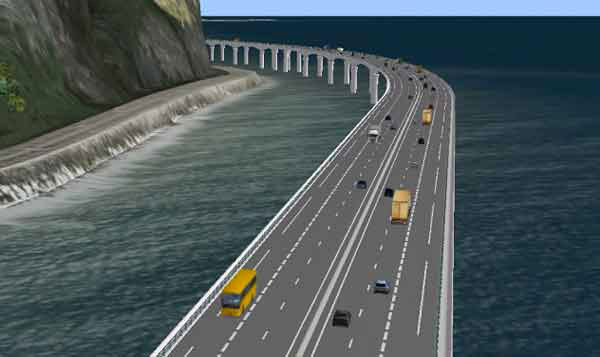 """Avec une """"route en haute mer"""" comment entrer dans St Denis et traverser le chef-lieu?"""