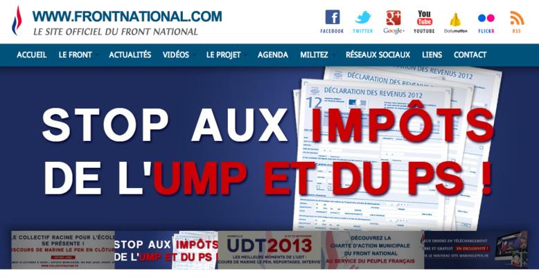 Le Front National estimé en tête des élections européennes pour la première fois