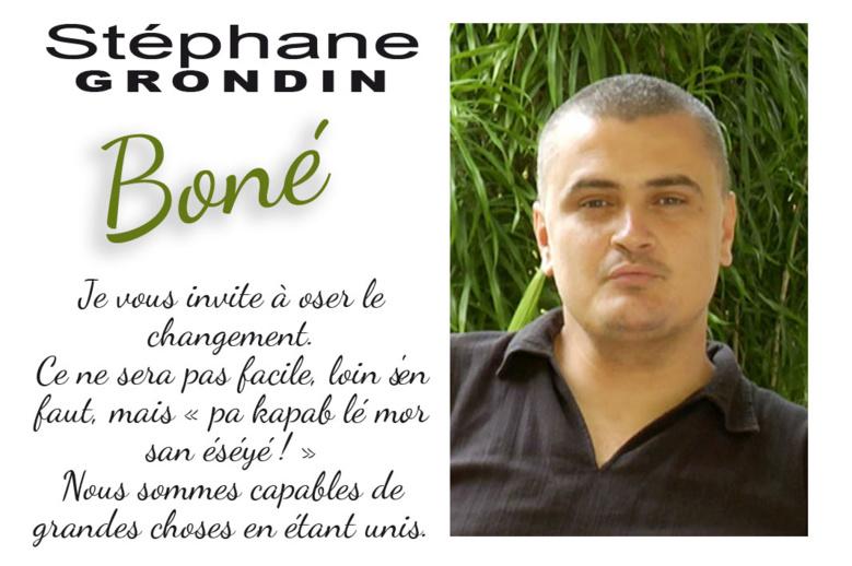 Stéphane Grondin dit Boné : pa kapab lé mor san éséyé !