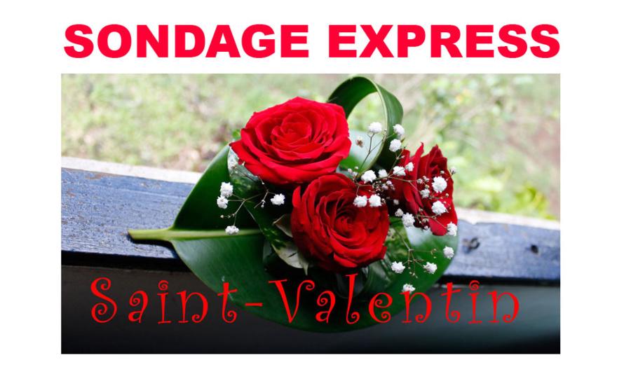 Sondage express : La Saint-Valentin