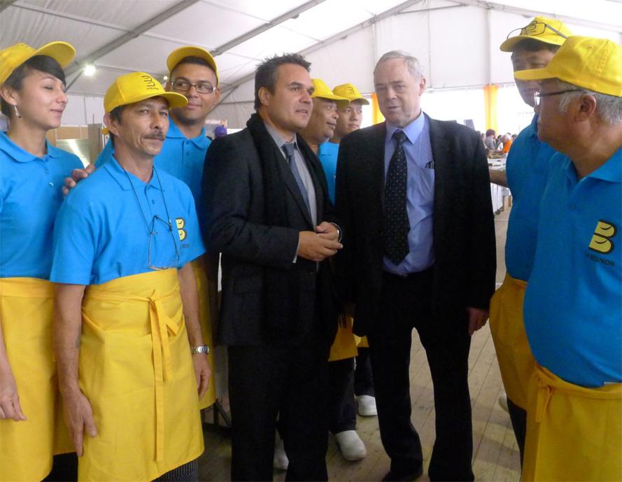 Le Président Didier ROBERT rencontre les jeunes Réunionnais pour la fête du pain à Paris