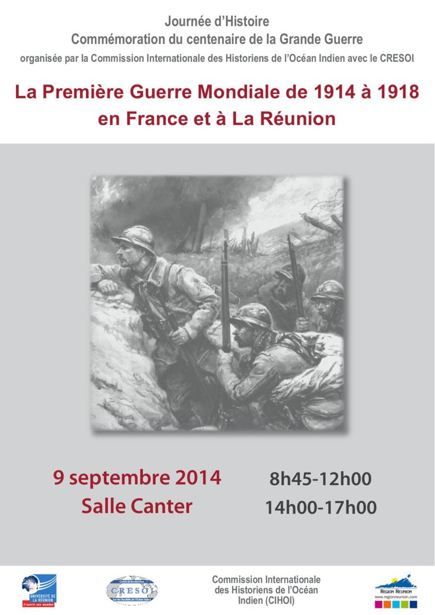 Journée d'histoire consacrée à la Première Guerre Mondiale