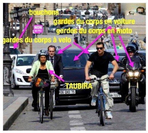 """""""Pour nous faire son cinéma et circuler en vélo, il lui faut deux fois plus de gardes du corps et d'agents pour assurer sa sécurité."""""""
