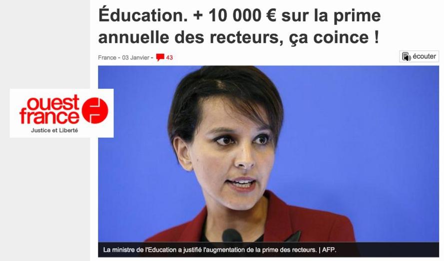 25 600 € de prime pour un Recteur en France, à La Réunion ça gagne combien un Recteur ?
