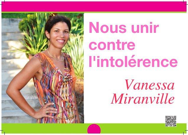 Vanessa Miranville : « Nous unir contre l'intolérance »