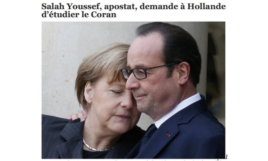 Salah Youssef, apostat, demande à Hollande d'étudier le Coran
