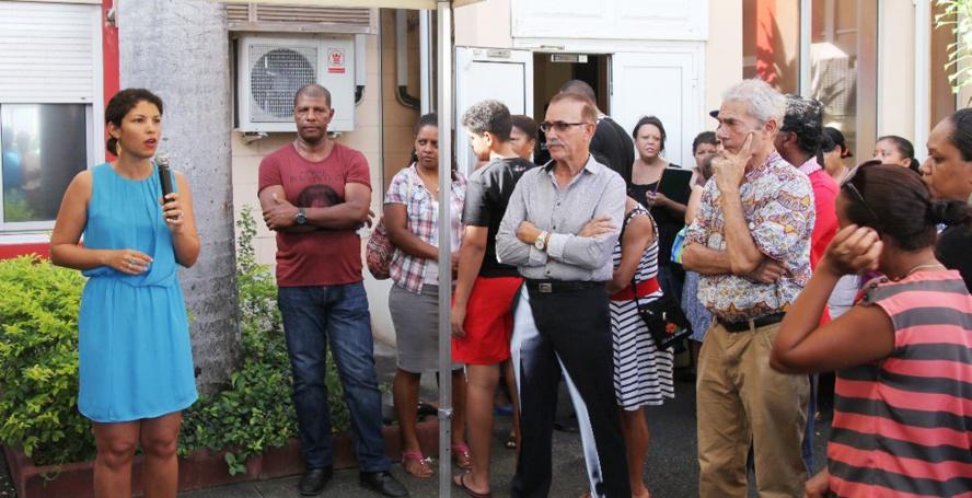 Vanessa Miranville : Opération portes ouvertes de la maison du peuple de la Possession