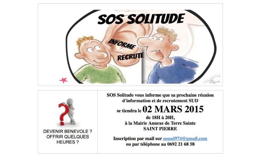 Association SOS Solitude - Recrute des écoutants bénévoles