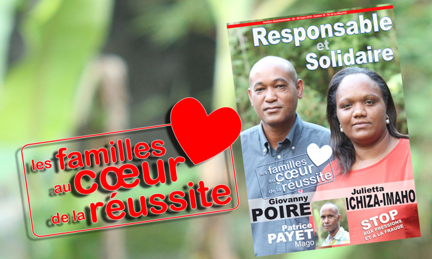 Julietta et Giovanny au cœur de la réussite des familles du canton 19 à Saint-Paul