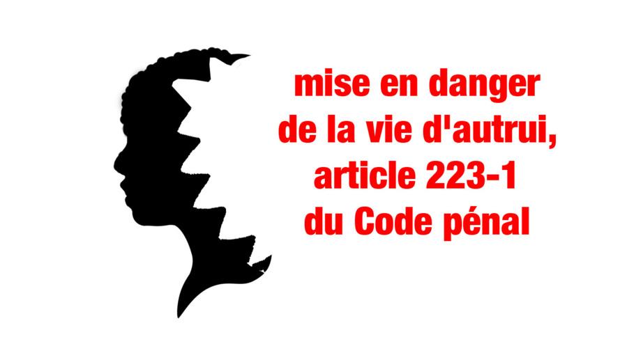 Crise requin : Mise en danger de la vie d'autrui, article 223-1 du Code pénal