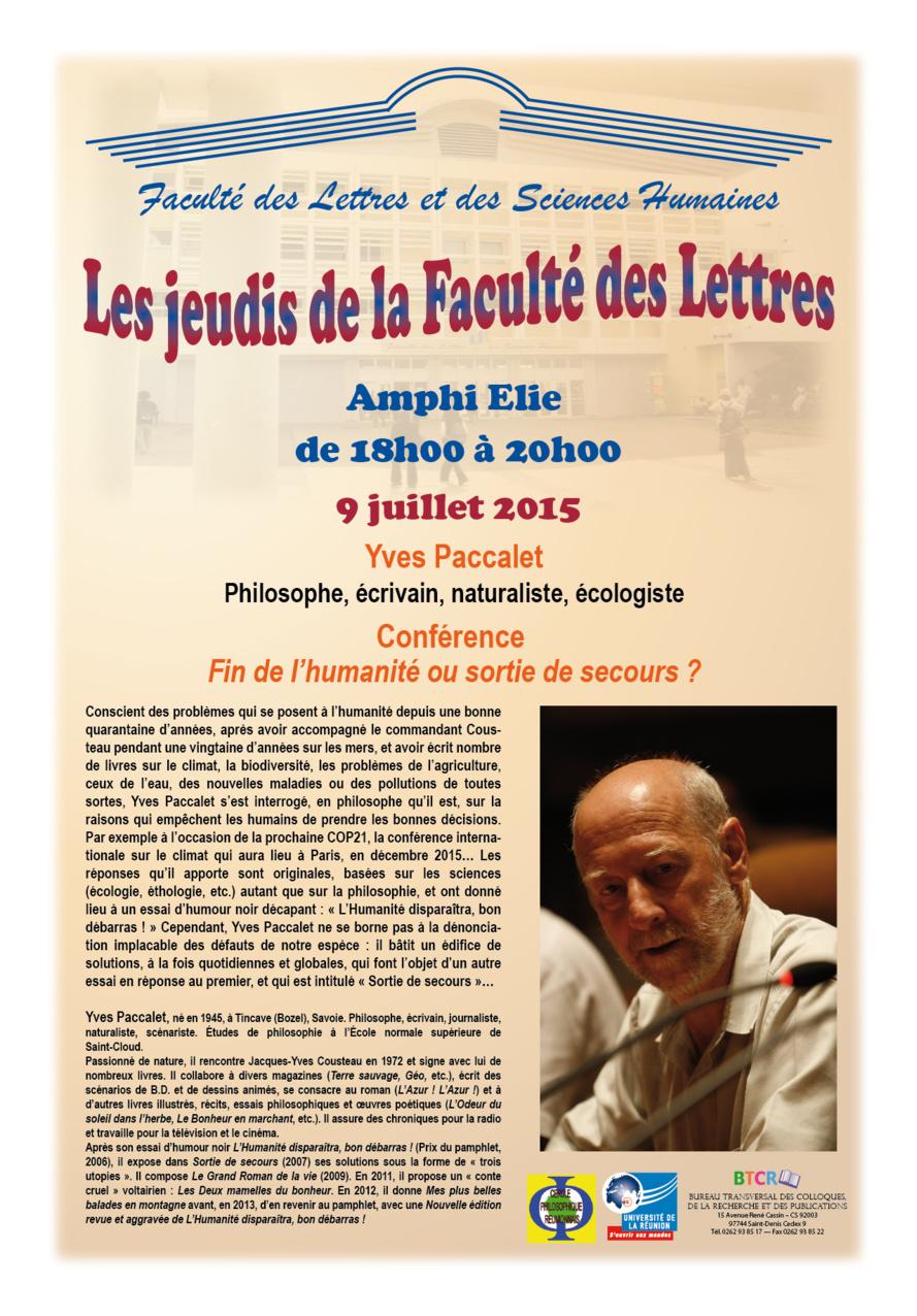 Faculté des Lettres : Un événement à ne pas manquer