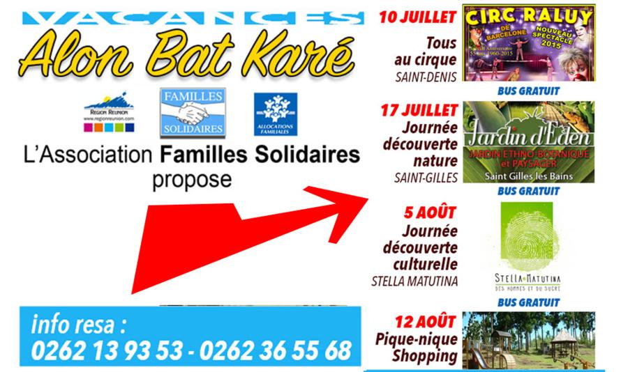 Familles Solidaires : Vacances solaires 2015