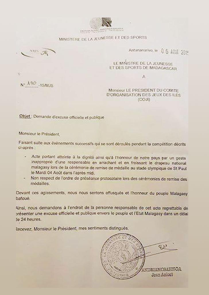Le peuple Malagasy laisse au peuple de France un délai de 24 heures pour présenter des excuses…