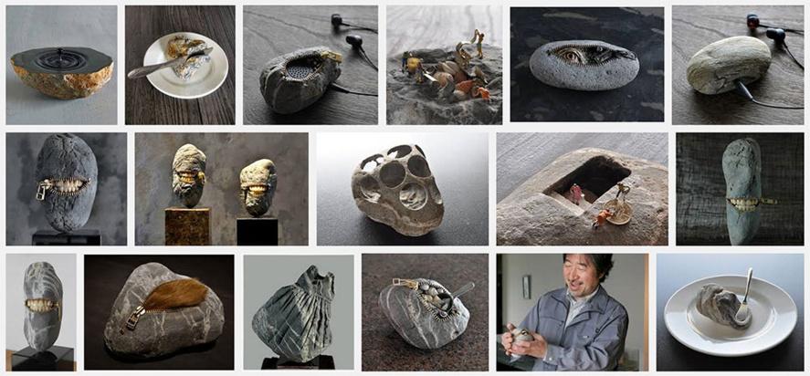 Les créations de Hirotoshi : De droles de pierres