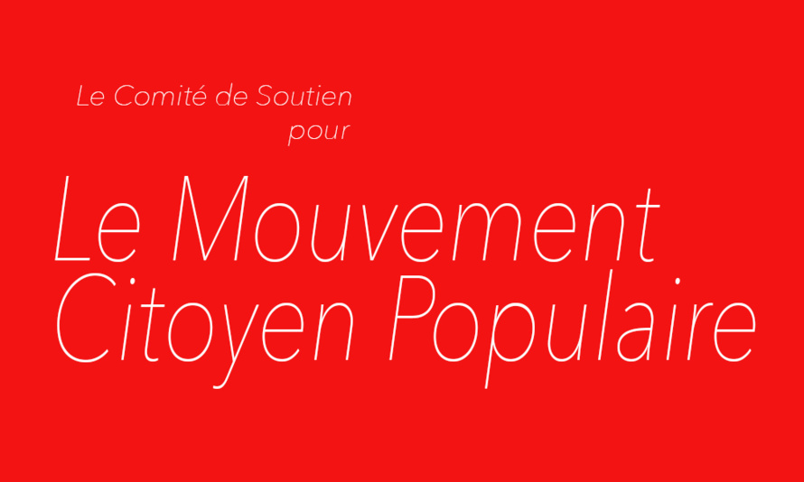 UN CONTRAT DE MANDATURE POUR LES REGIONALES  DES 6 ET 13 DECEMBRE 2015 AVEC LE MOUVEMENT CITOYEN POPULAIRE