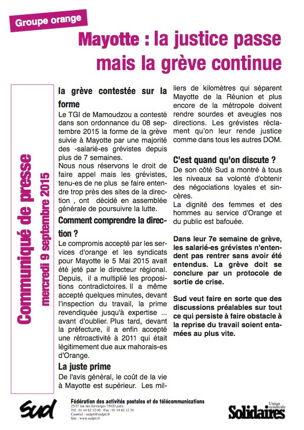 Mayotte : La justice passe mais la grève continue