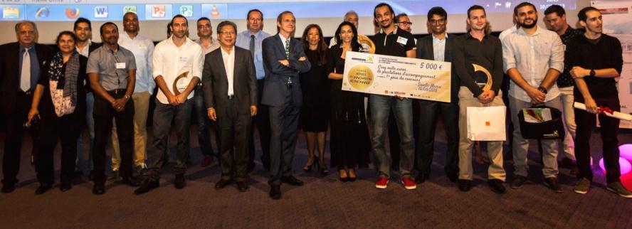 La remise des prix a clôturé la soirée des Pépites de l'innovation organisée par la Technopole et ses partenaires au Cinépalmes de Sainte-Marie (photo Gwael DESBONT)