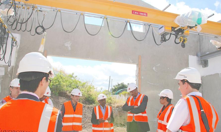 Le réservoir d'eau potable de l'Éperon pour 10 000 habitants