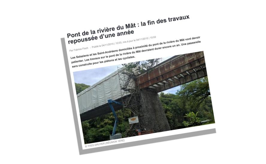 Le pont de la rivière du Mât