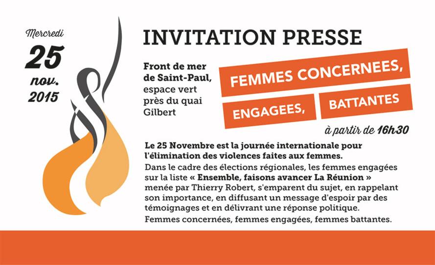Femmes concernées, engagées et battantes !