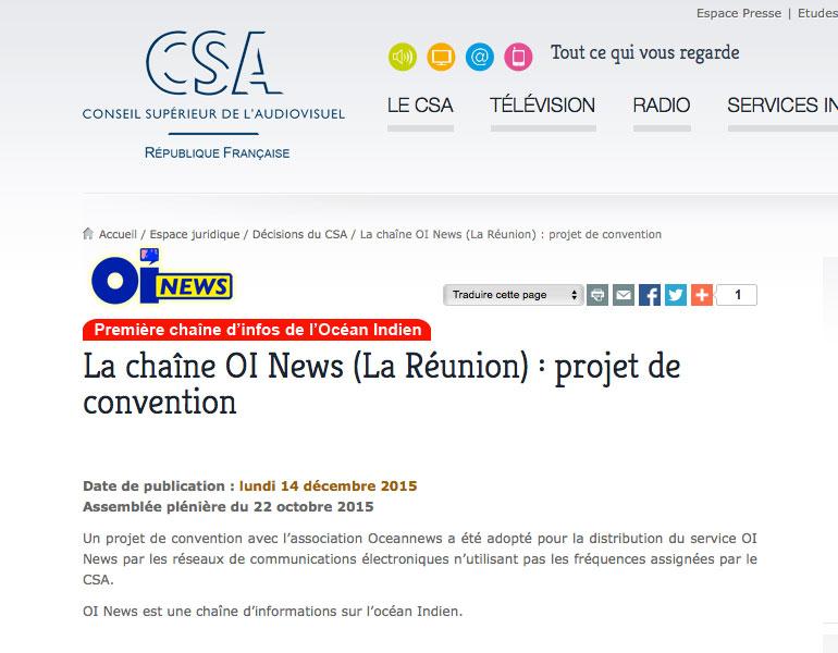 La chaîne OI News est née