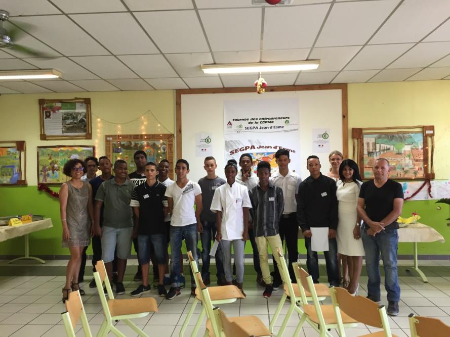 Les élèves ont invité les entreprises de la CGPME Réunion