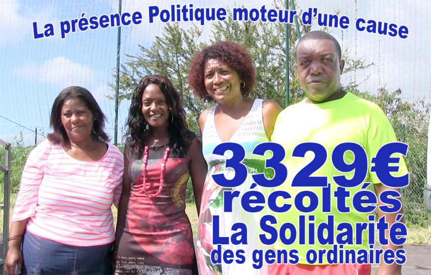 L'opération de solidarité a rapporté à la famille FETISOI 3329€