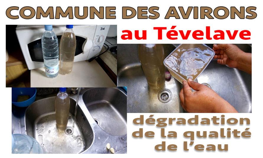 Mauvaise qualité de l'eau au Tévelave