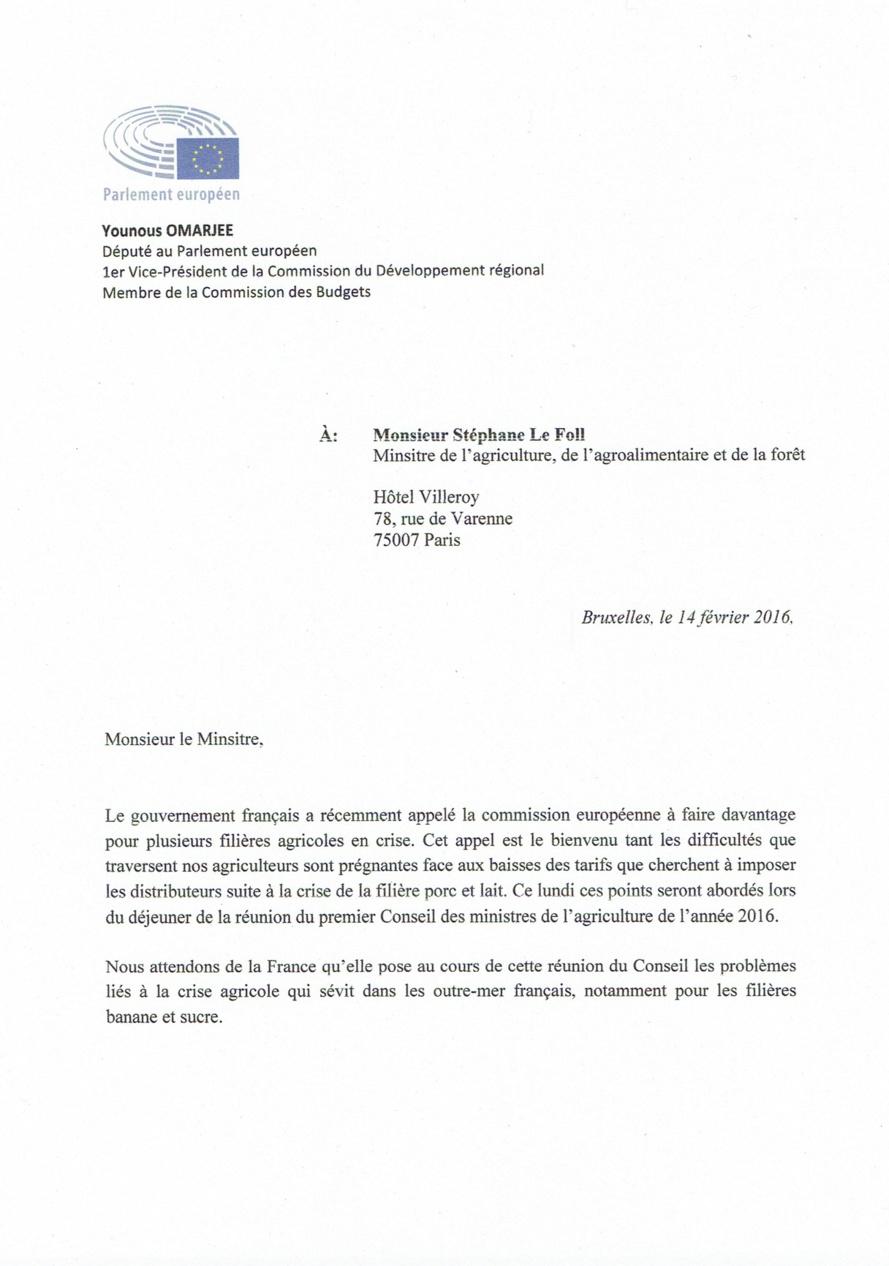 Younous OMARJEE : La filière canne-sucre et sucre spéciaux au Conseil de l'agriculture