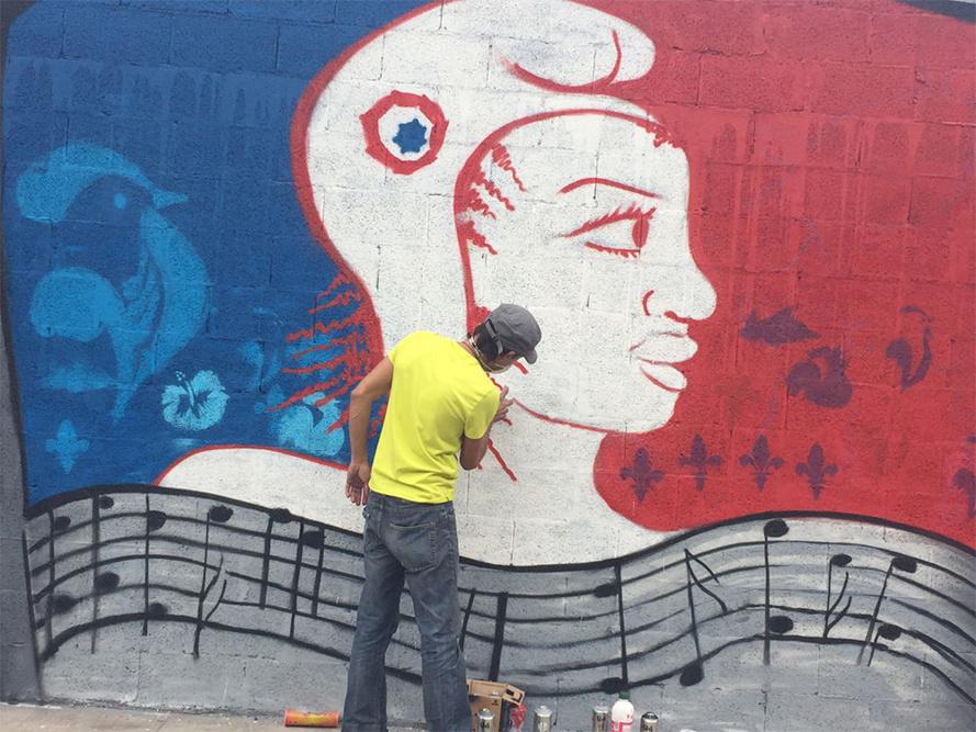 """Une belle fresque républicaine à Saint-Leu par les enfants des ateliers """"Anim'Vacances"""""""