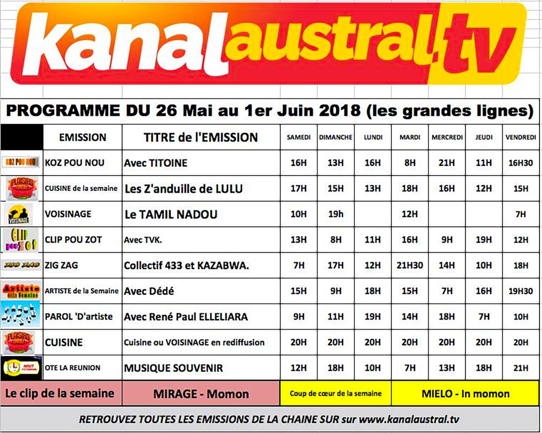 Programme télé KANAL AUSTRAL TV