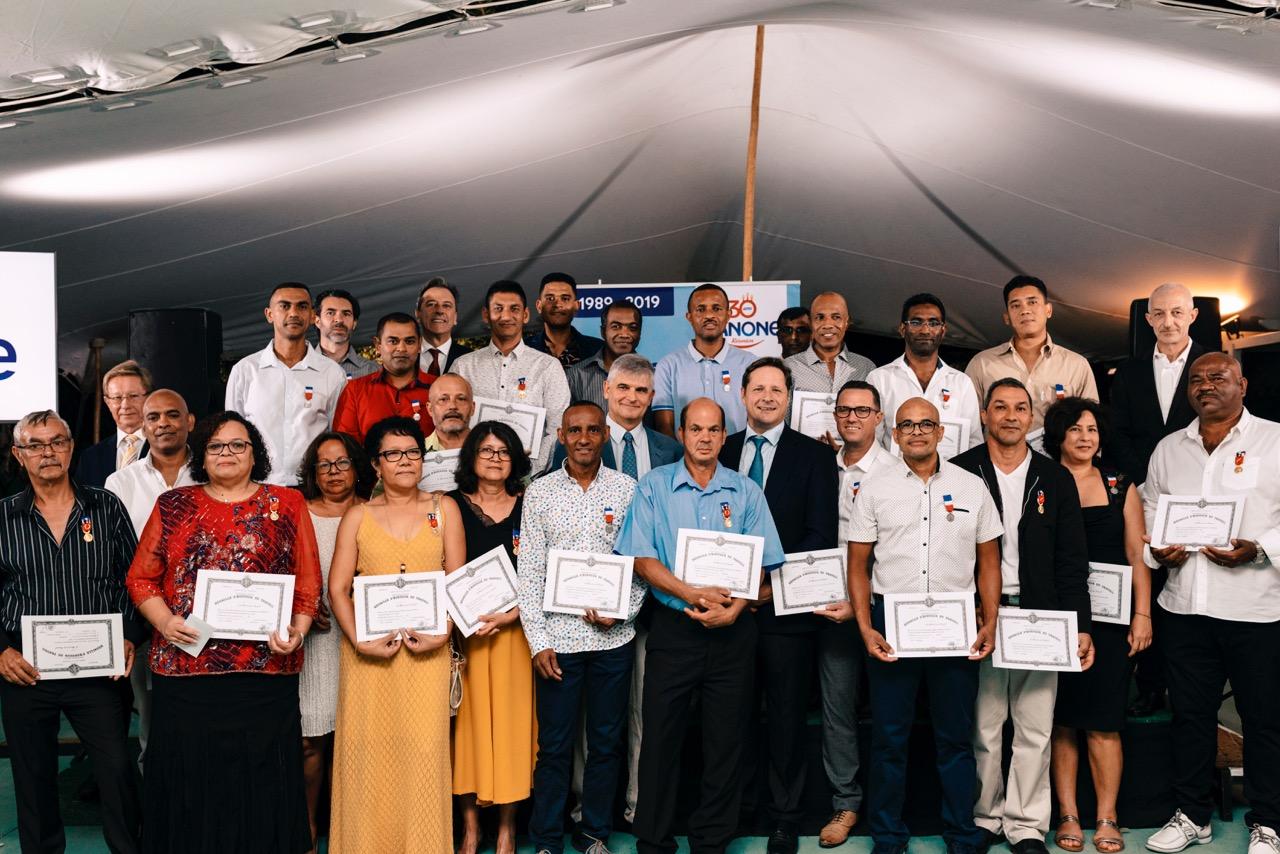30 ans de Danone réunion : 28 salariés reçoivent leur médaille du travail